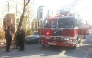 Firefighters Investigate on 10th Street SE