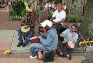 Djembe Drum Circle, Eastern Market, Saturday, June 8, 2013