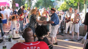 Little Red and the Renagades Zydeco Band Set the Upbeat Tone at the Eastern Market Fundraiser.