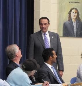 Mayor Gray and ANC6A Chair David Holmes