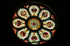 Epworth Church Rosette Stained Glass window