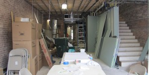 Work in progress at Rose's Luxury, the $46 per person price fixe family restaurant coming to 717 8th Street, SE