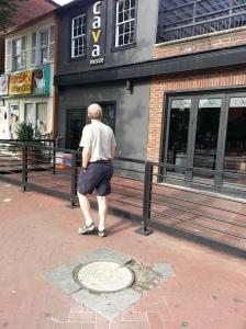 Hazardous sidewalk in front of CAVA