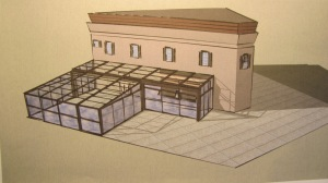Architect's Rendering of Argonaut's Planned Glass Covered Patio