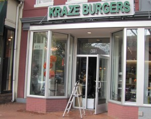 Barracks Row Kraze Burger Opens Today