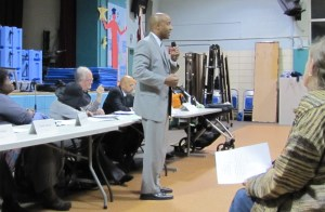 Thompson received a warm welcome from commissioners and residents at Thursday's ANC6A meeting at Maury School