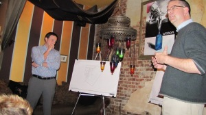 Eric May, Goldstar Senior VP, and Rob McClennan of Bonstra/Haresign Present Project Designs Monday Night at Wisdom on PA Ave SE