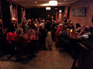 The Friends of Southeast Library held their annual Christmas dinner at Lavagna Restaurant on Barracks Row Sunday night.  Stephen Cheung who runs Lavagna, announced tonight that Fusion Grill will re-open above Medium Rare (515 8th Street, SE) soon and focus entirely on Asian take-out.