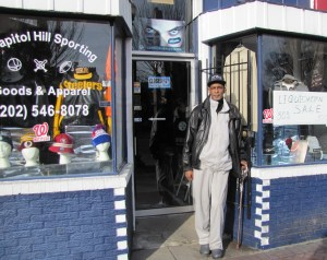 Rodney Smith, proprietor of Capitol Hill Sports Apparel, reflected on the past 11 years on Barracks Row