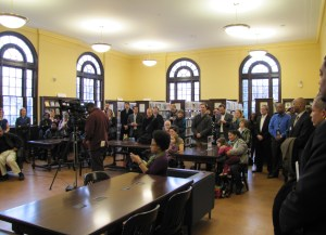 Neighbors and Friends of Northeast Library turned out for the reopening