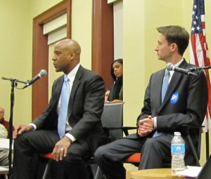 Candidates Thompson and Allen Responded to Questions from the Audience Posed by Lightman
