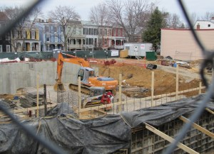 Construction Resumes on Church of Latter Day Saints, 500 Block of 7th Street, SE