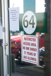 """64"" Refers to Amendment 64, Which Legalized Recreational Marijuana and Marks the Doors of Retail Outlets"