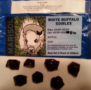 "Marijuana Edibles - Marisol's House Produced Grape Flavored Hard Candy ""Gems"""