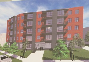 North Facade of Proposed 49 Unit Condo Building at 1215 K Street, NE.