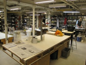 Eastern Market Pottery's 1100 Square Foot Studio and Display Space