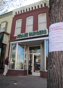 Kraze Burger Barracks Row Closed Mid-March, Five Months After Opening