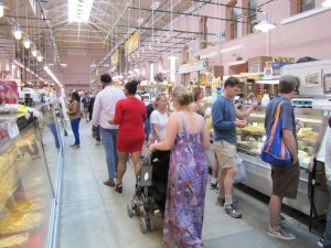 Inside Eastern Market, Sunday Afternoon, 3:30pm