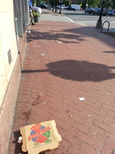 Barracks Row Street Scape, Wednesday Morning, Outside Proposed &Pizza Location