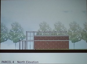North Elevation of New Library Entrance on Metro Plaza (subject to design modifications)