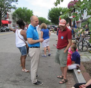 David Catania, Independent Mayoral Candidate, Solicits Support Before the Parade