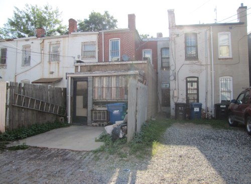 Sheehy House, Rear View, Showing Single Story Addition Slated for Demolition