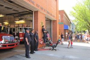 Fire Fighters of Engine Company No. 7 Celebrate Independence Day