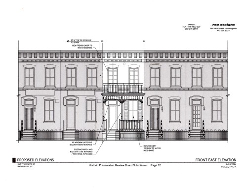 Sheehy House, Provisional 7th Street Elevation