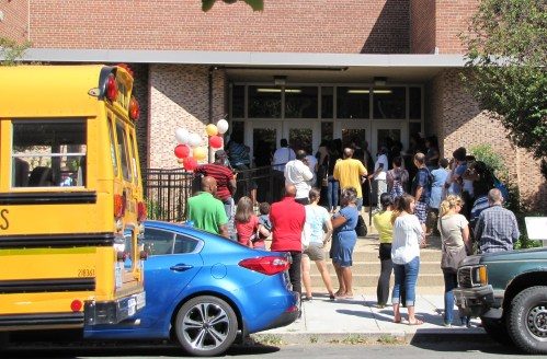3:10pm, Watkins Elementary School, 12th Street Entrance