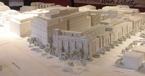 Developer's 3-D Model of the Proposed Hine Development