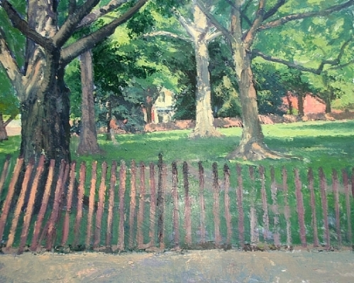 "Lincoln Park.  Acrylic on Masonite.  24""X30"" - $4,000"