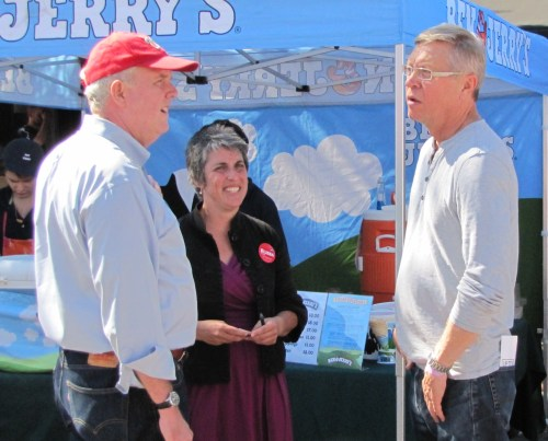 CM Wells with CM at Large Candidate Elissa Silverman and NBC4 News Reporter Tom Sherwood