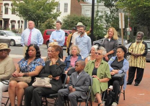 Harrod Family Members (seated, front row) and Eastern Market stakeholders (standing)