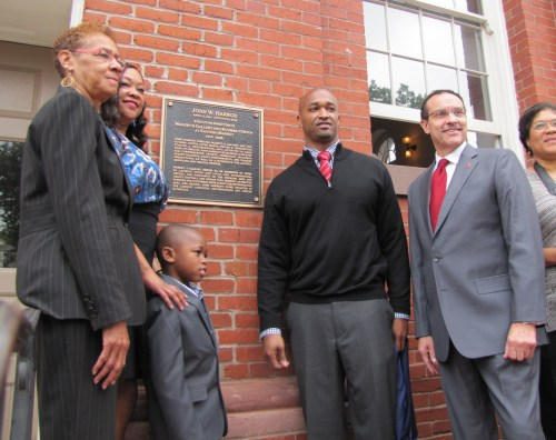 Harrod's Son and Daughter Unveiled the Plaque