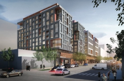 Rendering of Mixed Residential/Retail Project Planned for Space Near  Union Market at 1270 4th Street, NE