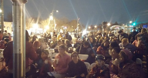 A Couple of Hundred Capitol Hill Residents Turned Out for the Lighting of the Holiday Tree on Eastern Market Metro Plaza Saturday Night.  A Menorah Will Be Lit on the Plaza December 16.