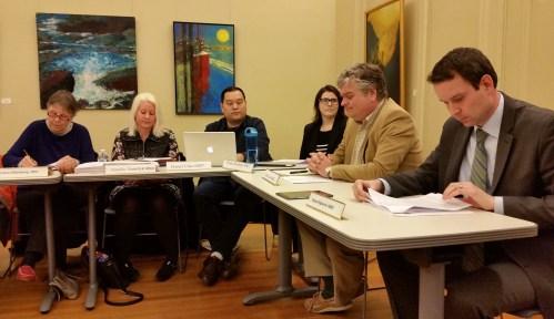 ANC6B's First Meeting.  (L-R) Chair Kirsten Oldenburg, Jennifer Samolyk, Secretary Daniel Chao, Treasurer Diane Hoskins, James Loots, Vice Chair Brian Flahaven