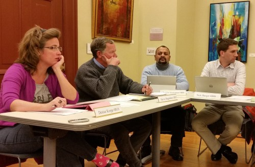 ANC6B Officers and Commissioners (L-R) Kiane Krepp, Steve Hagedorn, Chander Jayaraman, Nick Burger.