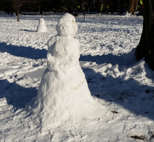 Snow Art in Lincoln Park