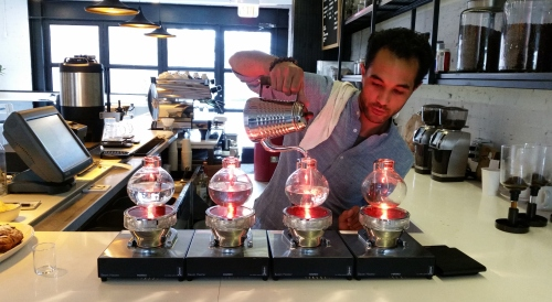 Maketto raises the bar for Capitol Hill coffee shops with its coffee siphons. The brewing method, invented in Europe in the 1830's, is finding new fans in the US since the late 1990's and is reputed to produce a superior cup of coffee. Maketto, 1351 H Street, NE.