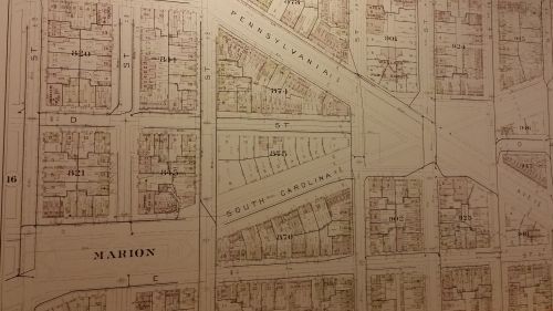 1903 Map of Area Around Marion Park