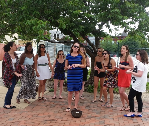 """The District,"" the all-female acapella group, performed at Eastern Market on Sunday. Genres include Pop, Rock, R&B, Hip-Hop, Country and ""everything in between.""  For more:  http://bit.ly/1JhyOTw"