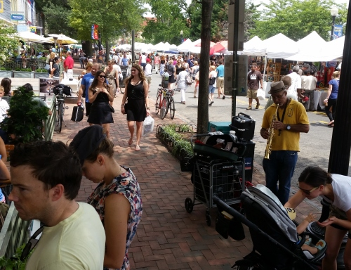 And a busy day today at the 7th Street Flea Market
