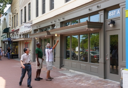 Hard to recognize the old Remington's on Pennsylvania Avenue - now slated to be the new home of a 7-11 and a Sprint outlet