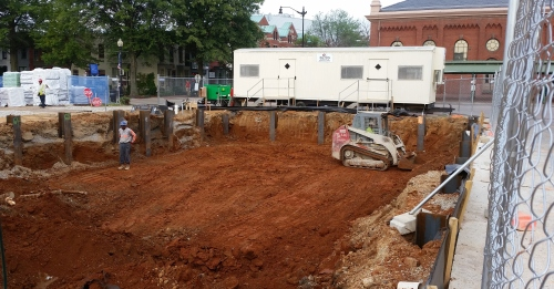 Excavation for the affordable housing component of the Hine Development started last week.