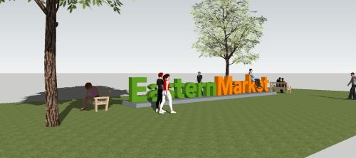 Preliminary Concept for Public Art Piece on Eastern Market Metro Plaza (2 of 2)