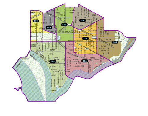 Map of MPD First District PSAs