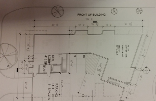 Ground floor plan will be primarily retail. Project will face 8th Street, Virginia Avenue, and L Street.