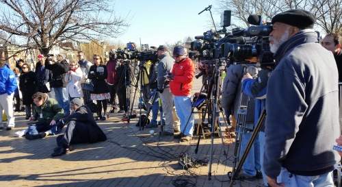 And the television news media rolled out for the event:  WTTG Channel 5, WJLA News 7, WUSA News Nine, City 16 from the Mayor's office, Channel 5 Fox, WRC Channel 4 News, and Univision Spanish TV.