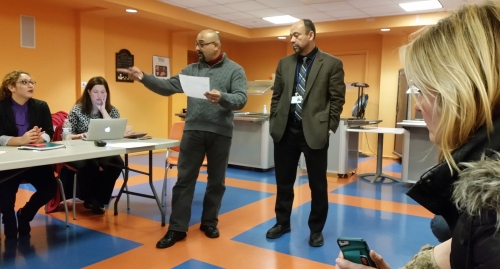 ANC6B Commissioner Chander Jayaramas (left) and Dr. Alvaro Guzman, Ex3cutive Director of Andromeda